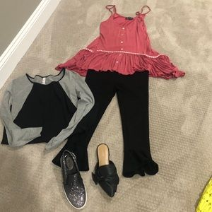 High Low Flowy Top, Size Small